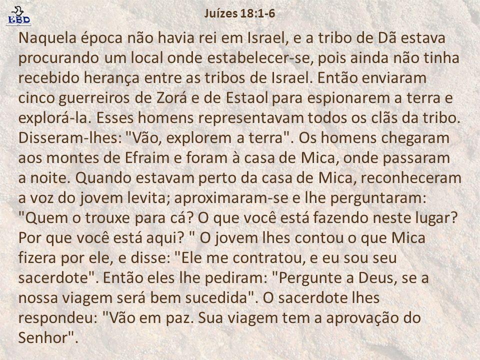 Juízes 18:1-6