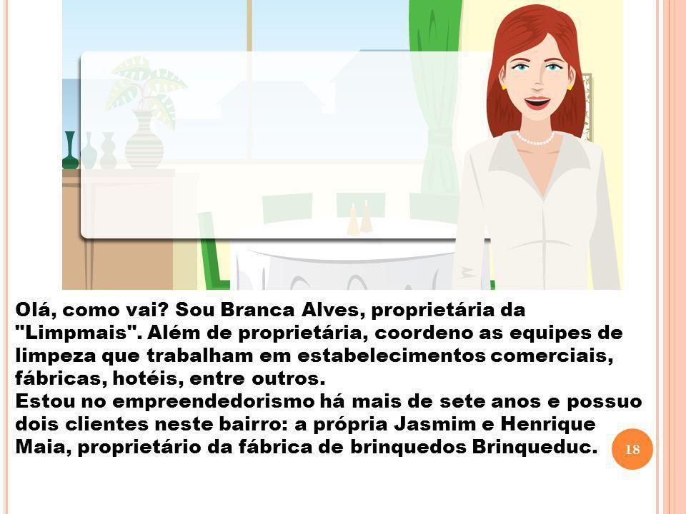 Olá, como vai. Sou Branca Alves, proprietária da Limpmais