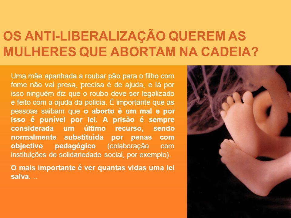 OS ANTI-LIBERALIZAÇÃO QUEREM AS MULHERES QUE ABORTAM NA CADEIA