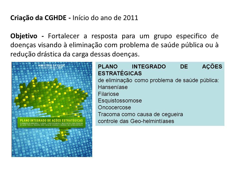 Criação da CGHDE - Início do ano de 2011