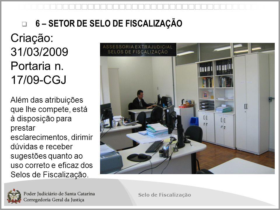 Criação: 31/03/2009 Portaria n. 17/09-CGJ