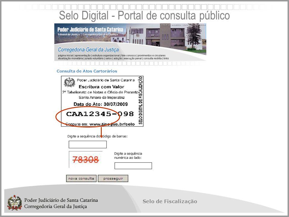 Selo Digital - Portal de consulta público