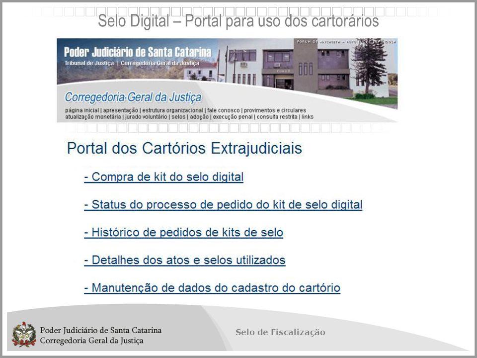 Selo Digital – Portal para uso dos cartorários