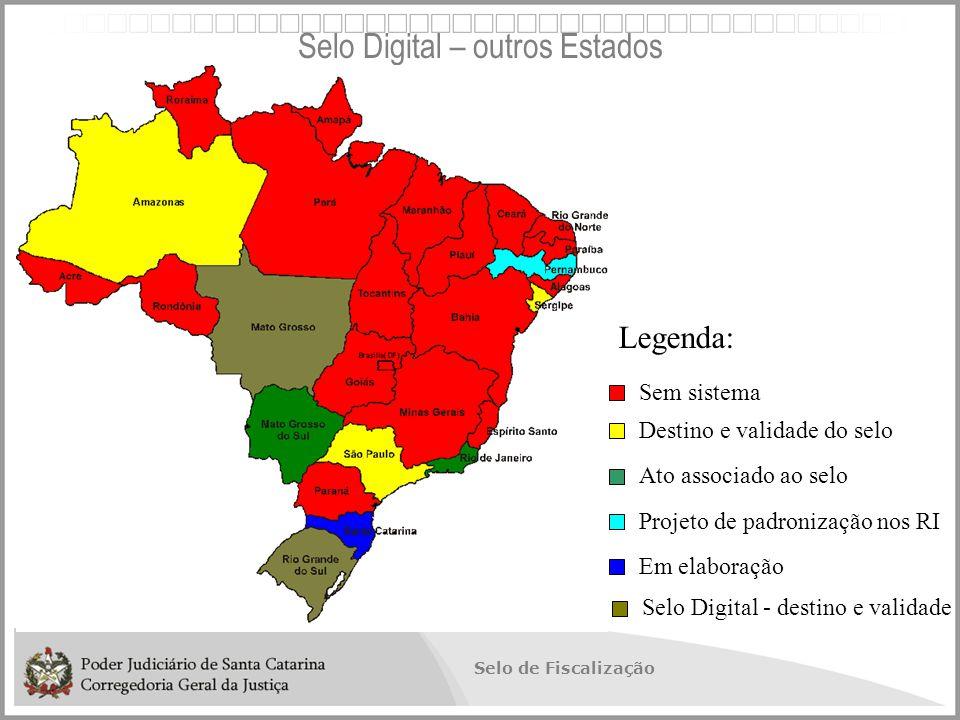Selo Digital – outros Estados