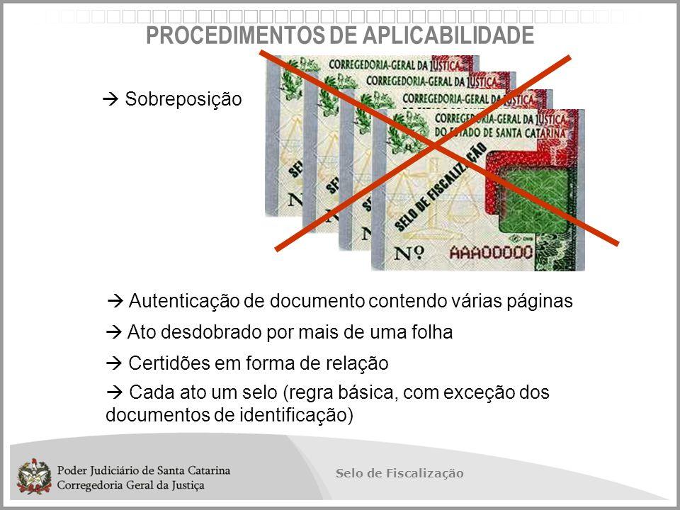 PROCEDIMENTOS DE APLICABILIDADE