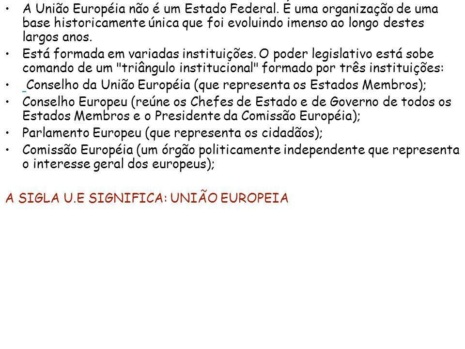 A União Européia não é um Estado Federal