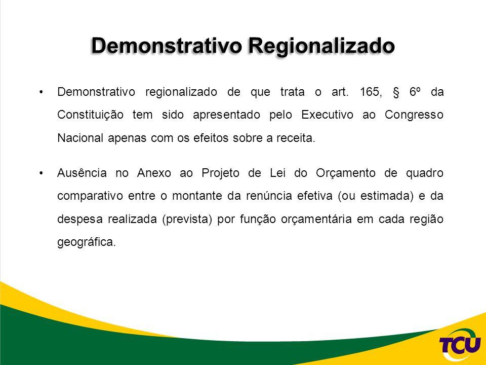 Demonstrativo Regionalizado