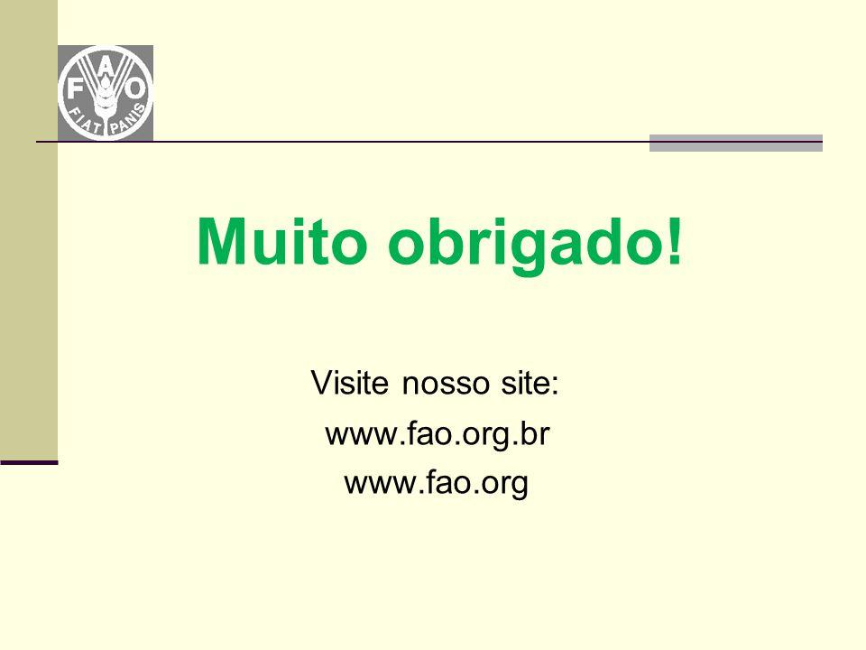 Muito obrigado! Visite nosso site: www.fao.org.br www.fao.org