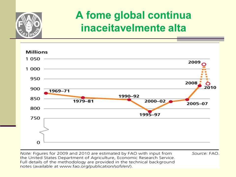 A fome global continua inaceitavelmente alta