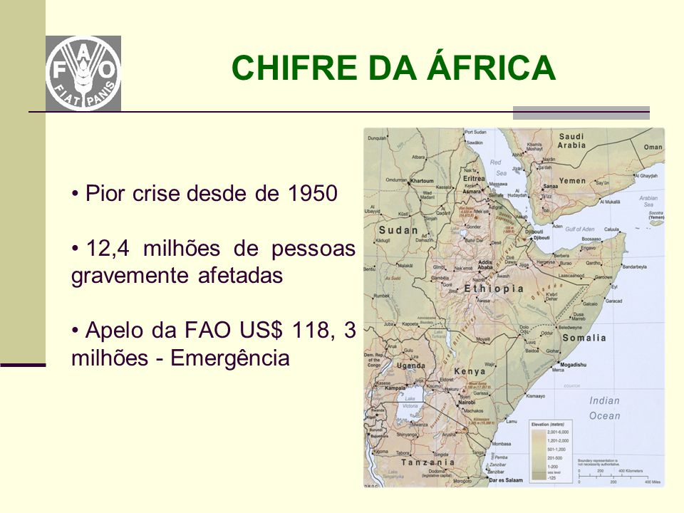 CHIFRE DA ÁFRICA Pior crise desde de 1950