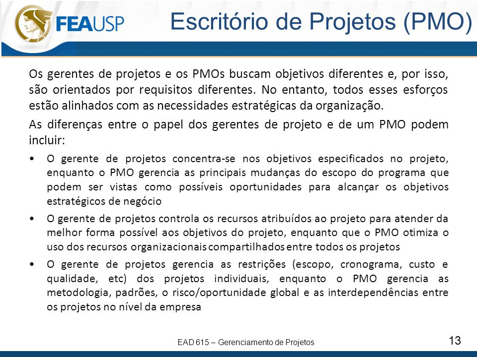 Escritório de Projetos (PMO)
