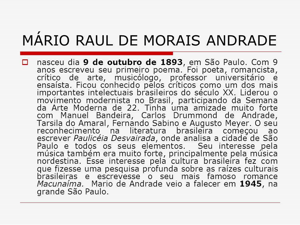 MÁRIO RAUL DE MORAIS ANDRADE