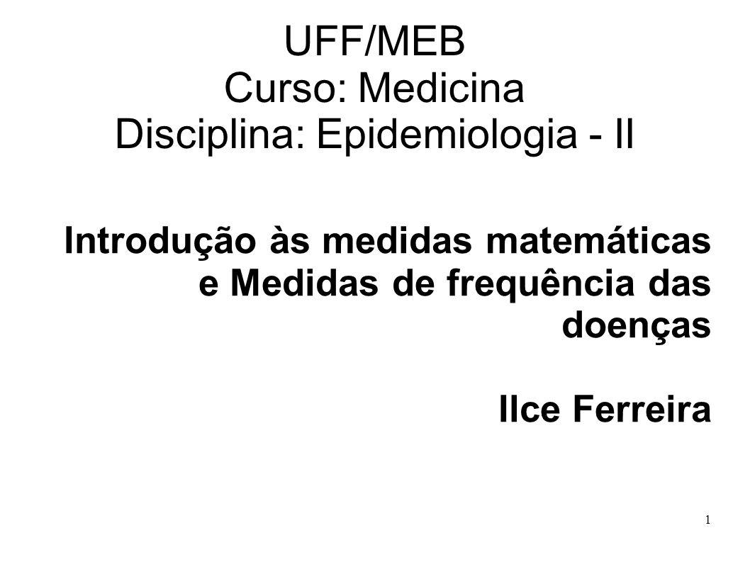 UFF/MEB Curso: Medicina Disciplina: Epidemiologia - II