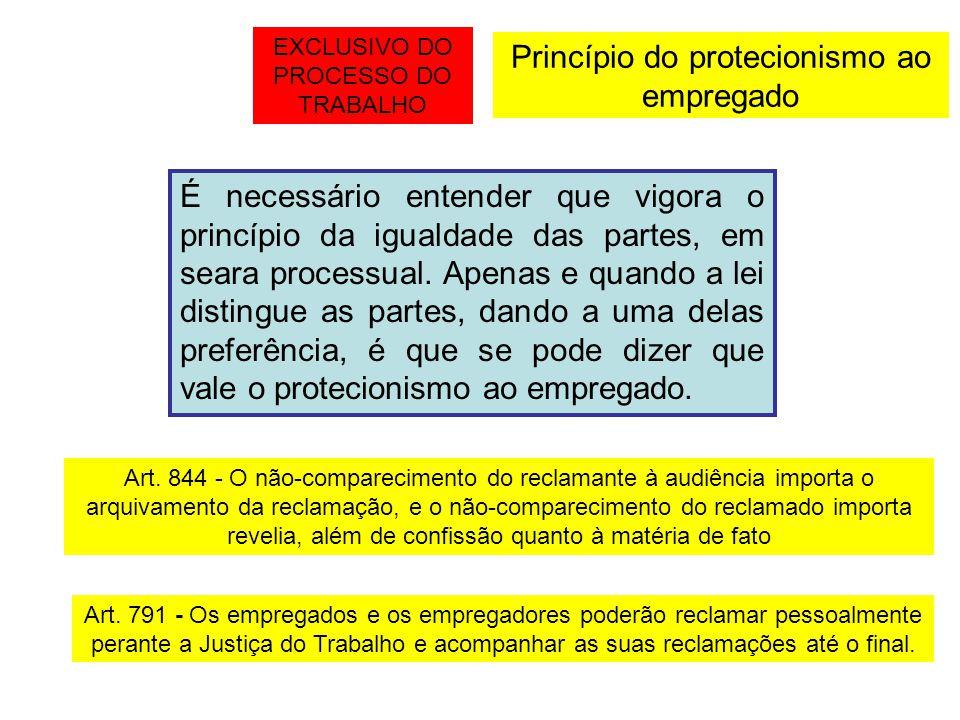 Princípio do protecionismo ao empregado