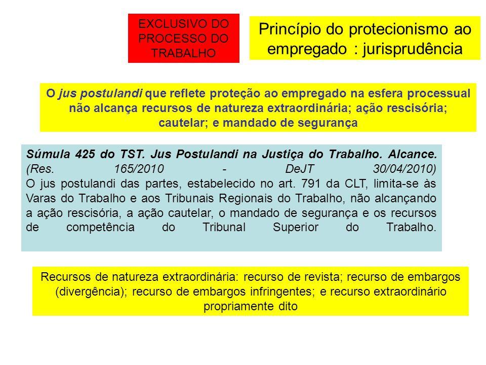 Princípio do protecionismo ao empregado : jurisprudência