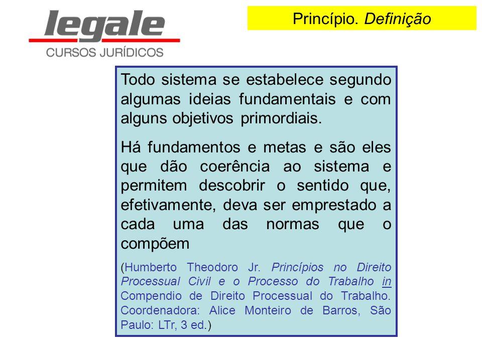 Princípio. Definição Todo sistema se estabelece segundo algumas ideias fundamentais e com alguns objetivos primordiais.