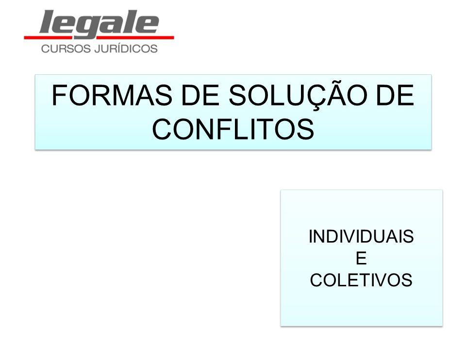 FORMAS DE SOLUÇÃO DE CONFLITOS