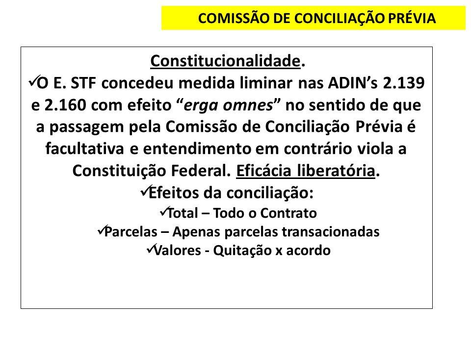 Efeitos da conciliação: