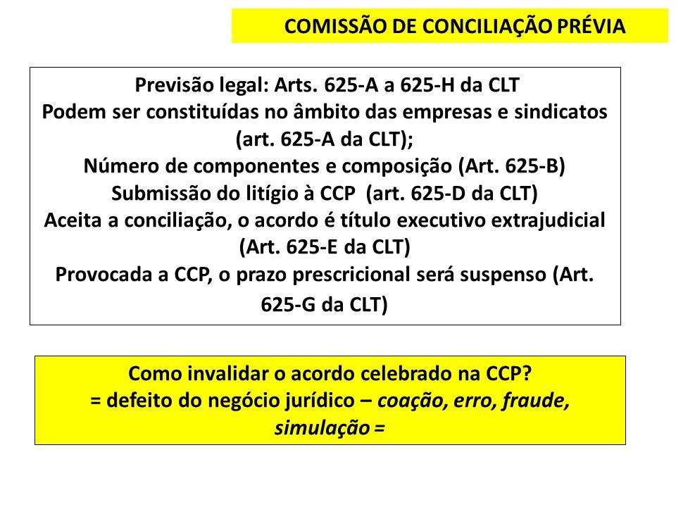 COMISSÃO DE CONCILIAÇÃO PRÉVIA