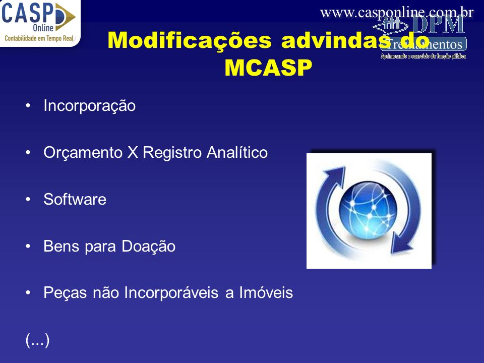 Modificações advindas do MCASP