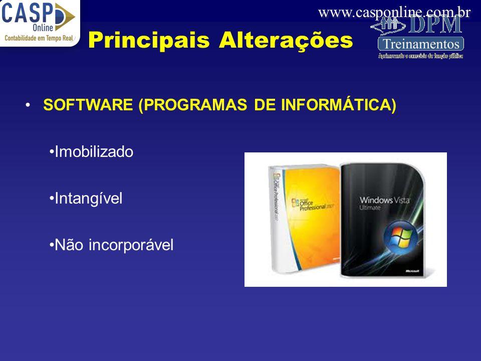Principais Alterações