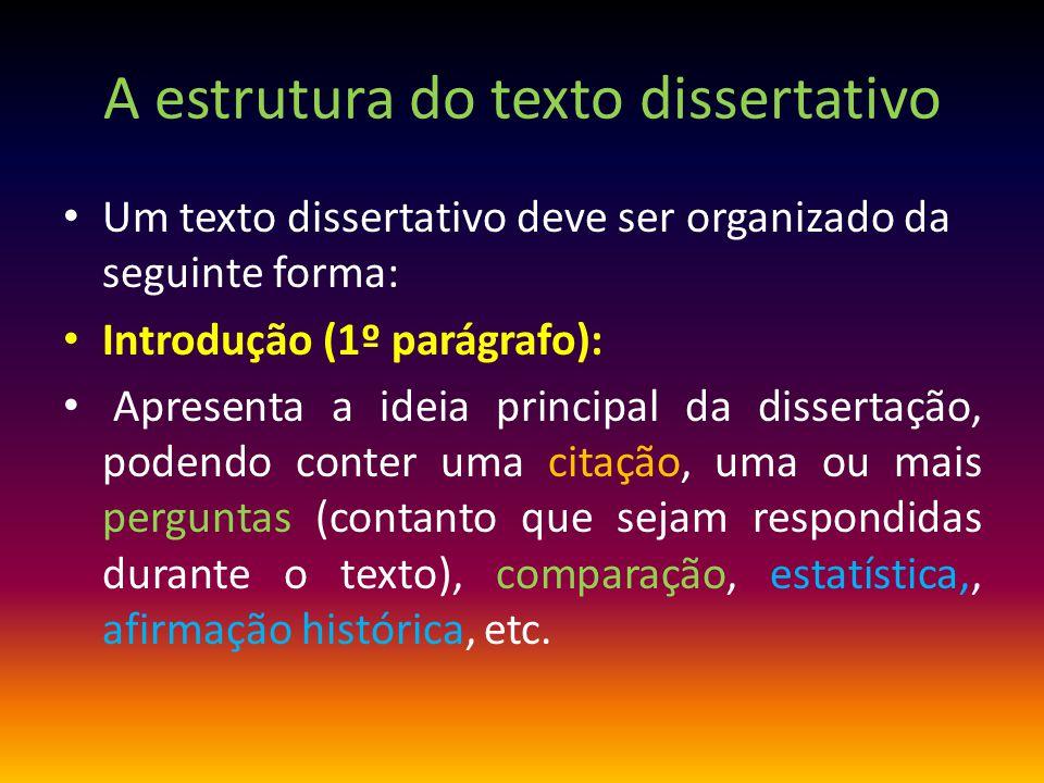 A estrutura do texto dissertativo