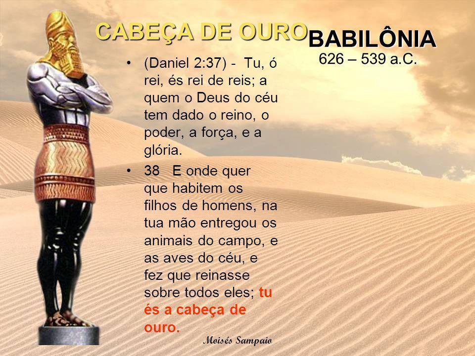 CABEÇA DE OURO BABILÔNIA 626 – 539 a.C.