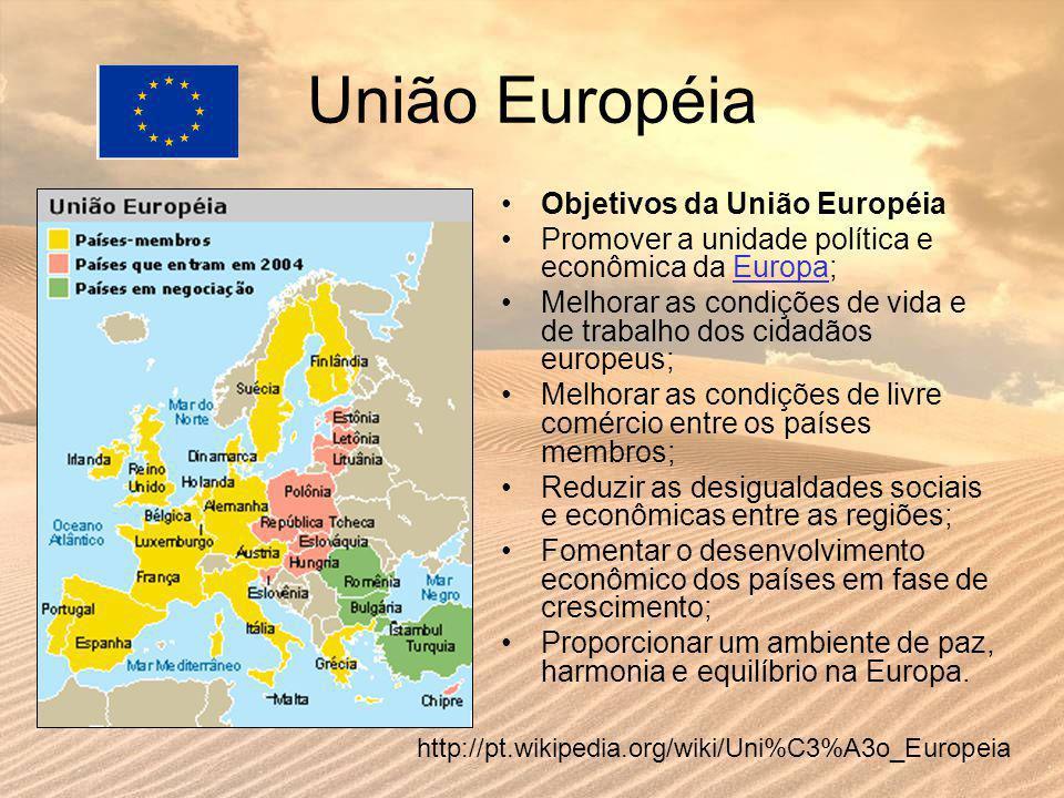 União Européia Objetivos da União Européia
