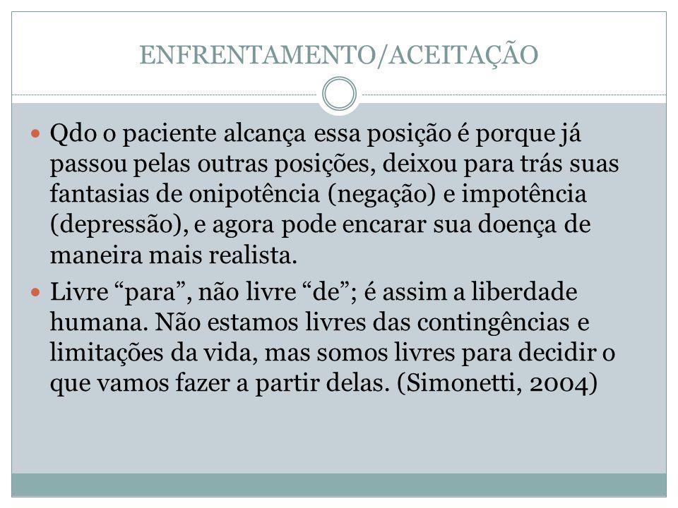 ENFRENTAMENTO/ACEITAÇÃO