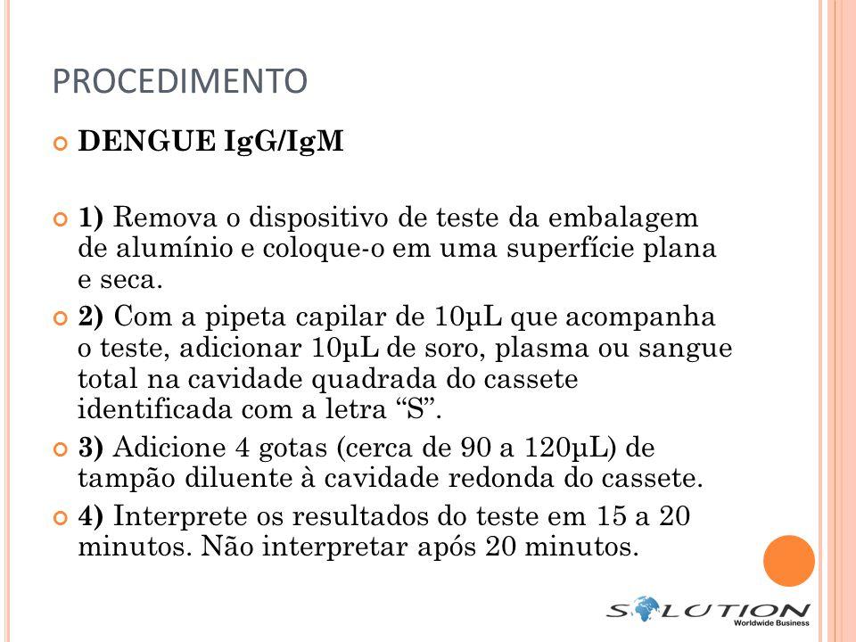 PROCEDIMENTO DENGUE IgG/IgM