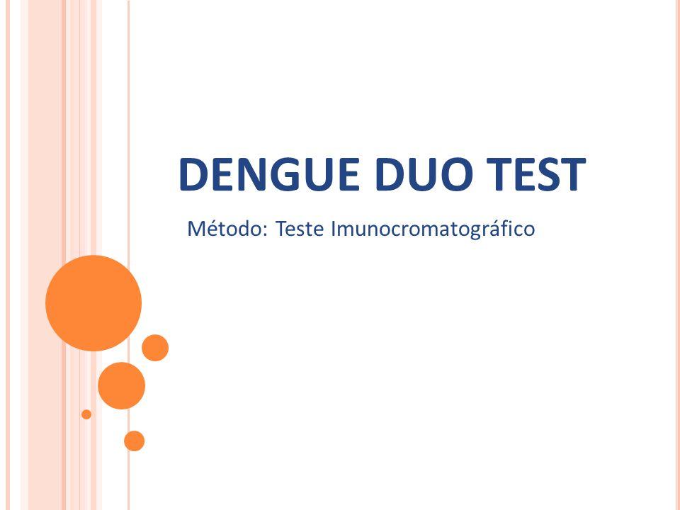 Método: Teste Imunocromatográfico