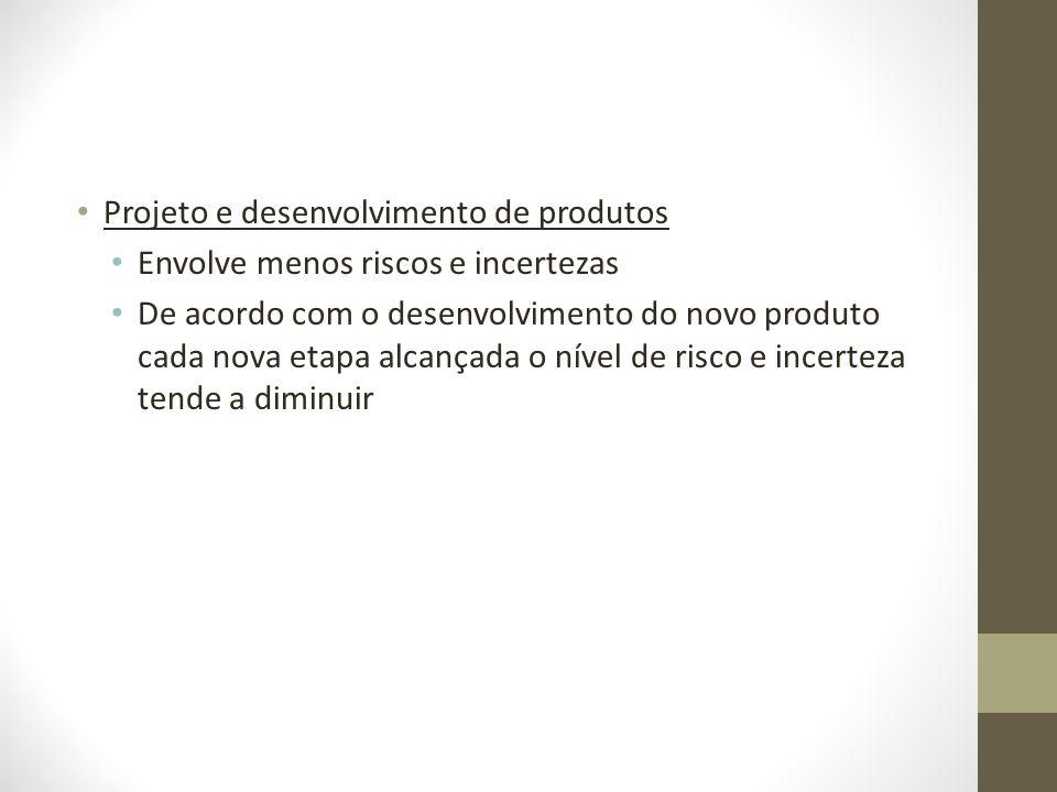 Projeto e desenvolvimento de produtos