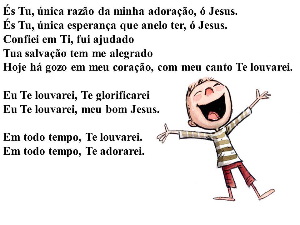 És Tu, única razão da minha adoração, ó Jesus.