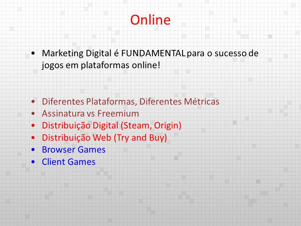 Online Marketing Digital é FUNDAMENTAL para o sucesso de jogos em plataformas online! Diferentes Plataformas, Diferentes Métricas.