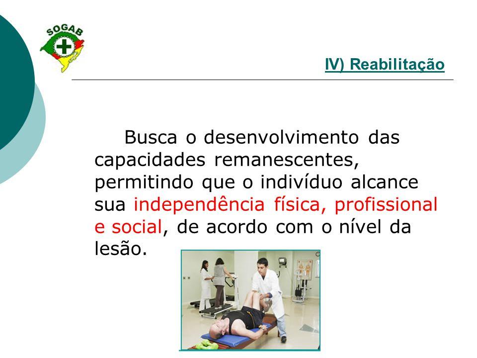 IV) Reabilitação
