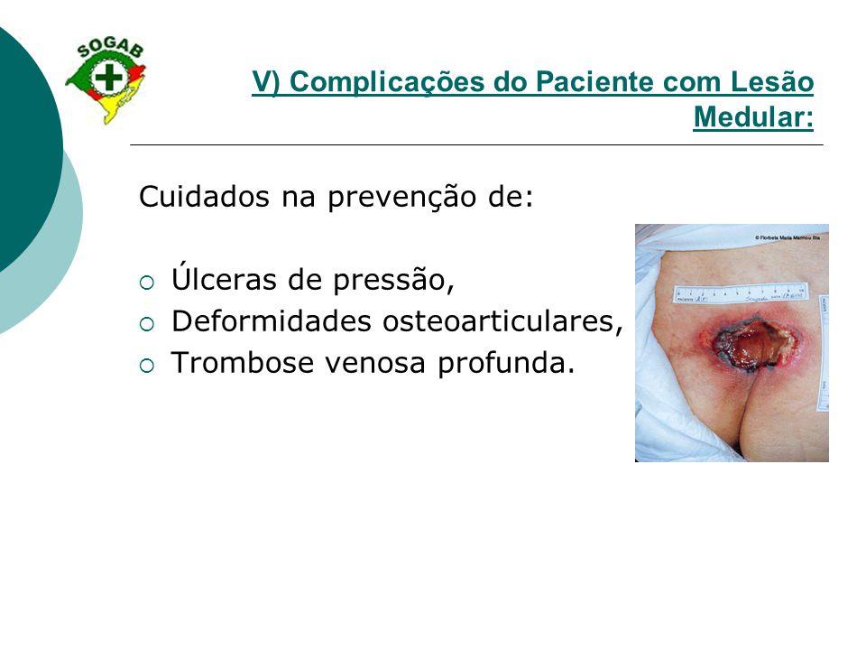 V) Complicações do Paciente com Lesão Medular: