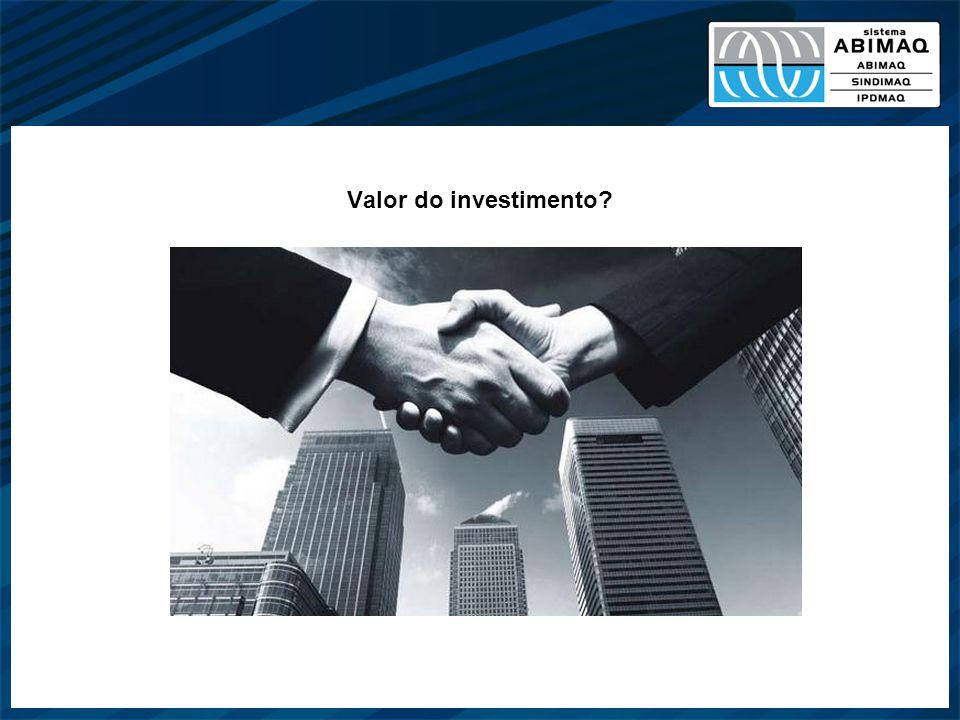 Valor do investimento