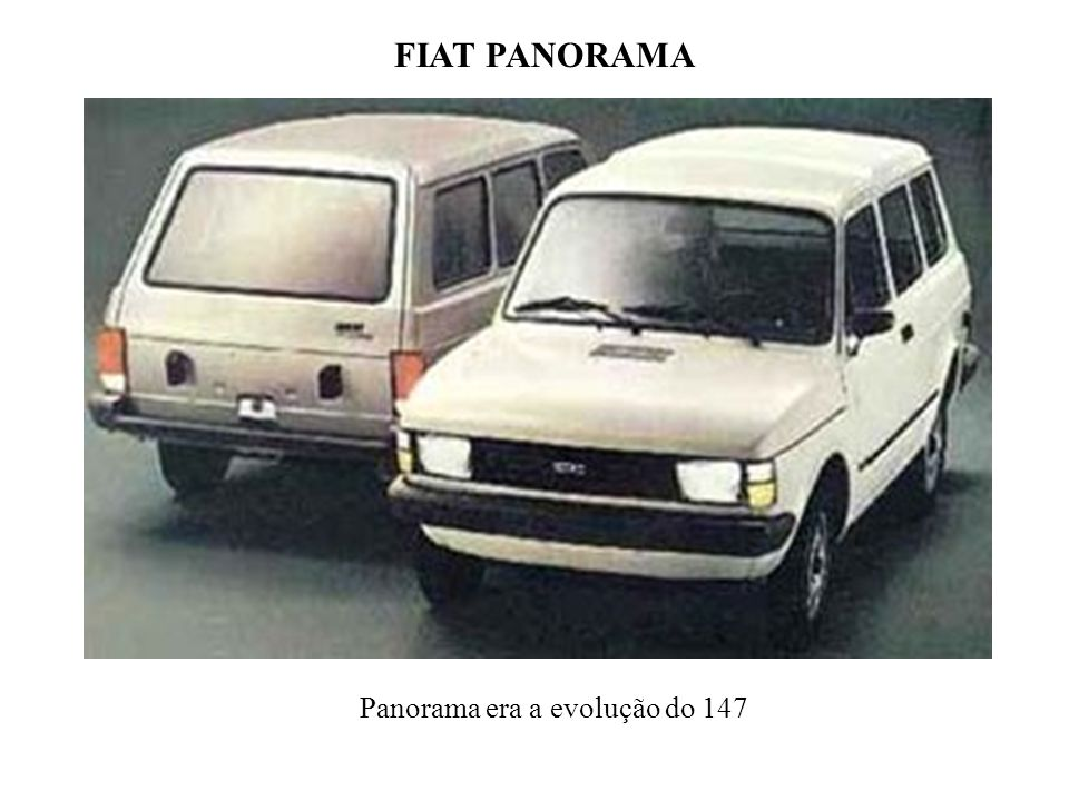 FIAT PANORAMA Panorama era a evolução do 147