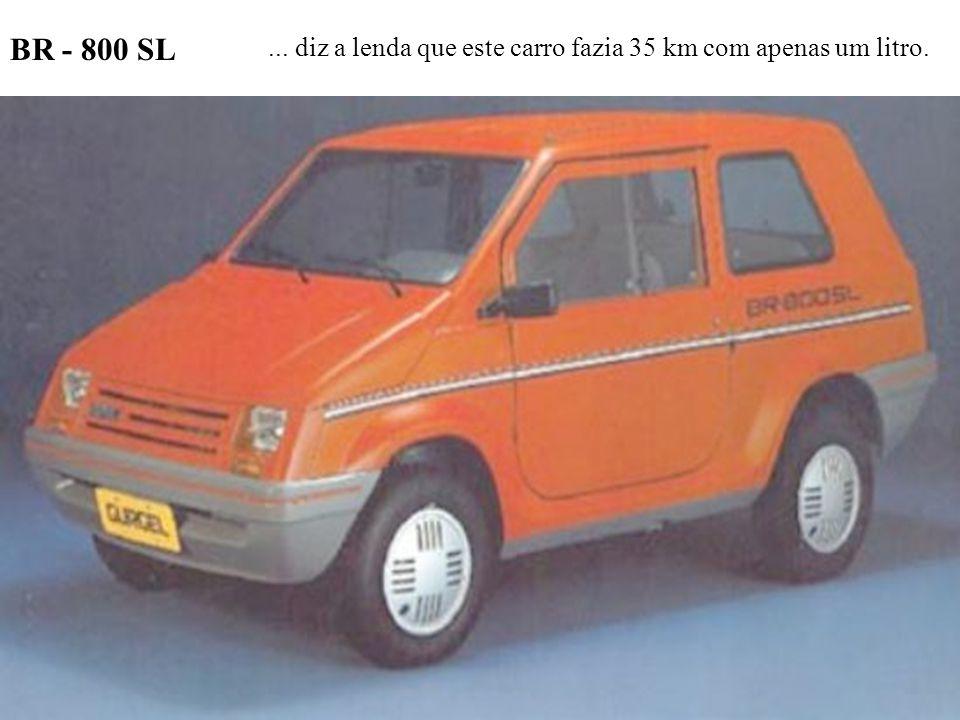 BR - 800 SL ... diz a lenda que este carro fazia 35 km com apenas um litro.