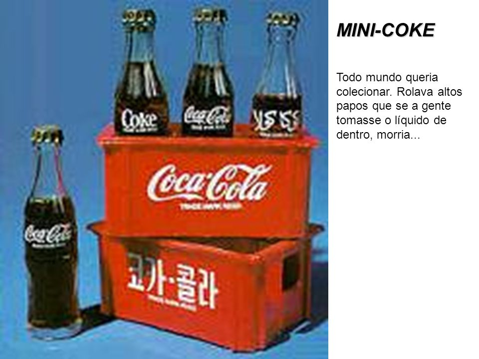MINI-COKE Todo mundo queria colecionar.