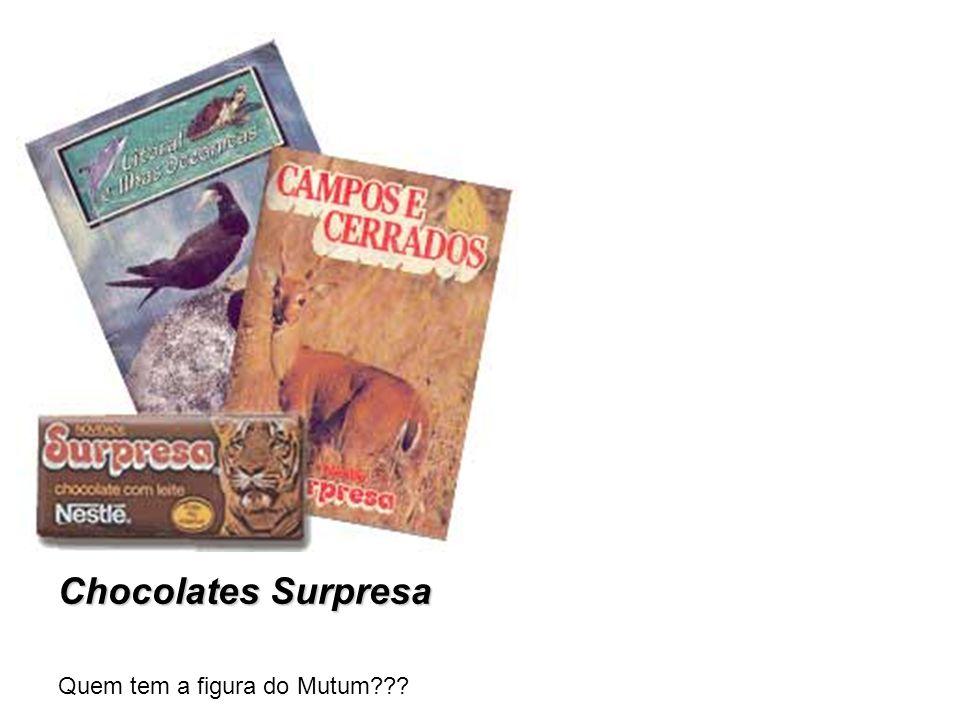 Chocolates Surpresa Quem tem a figura do Mutum