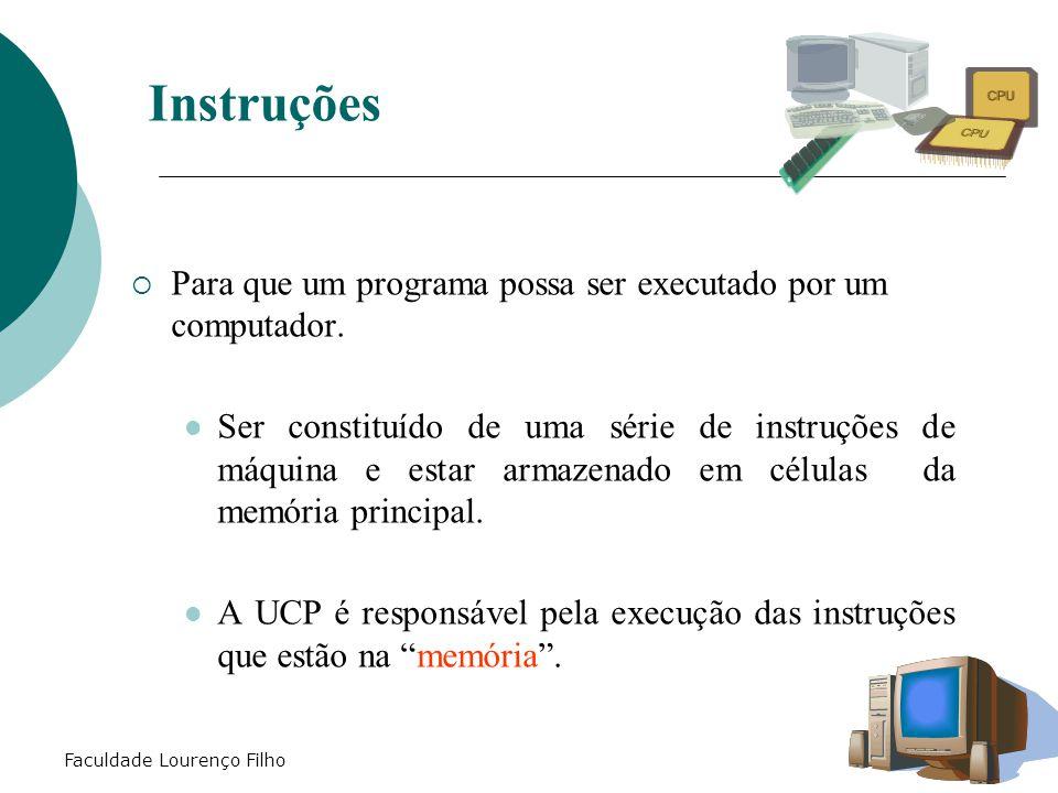 Instruções Para que um programa possa ser executado por um computador.
