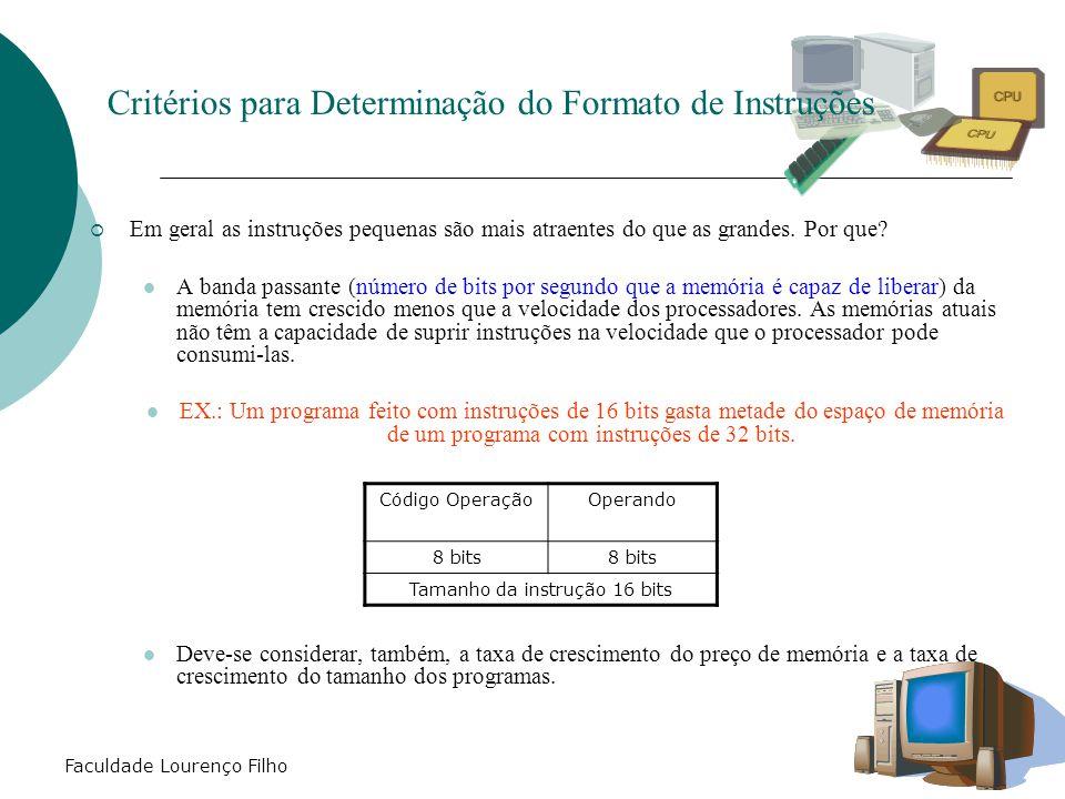 Critérios para Determinação do Formato de Instruções