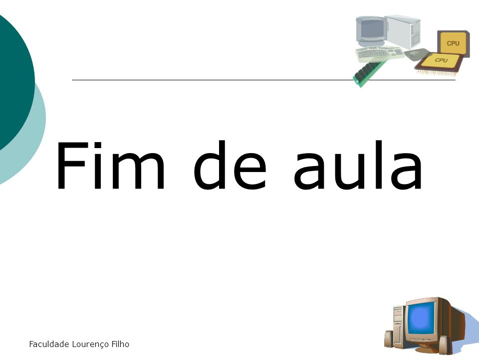 Fim de aula Faculdade Lourenço Filho