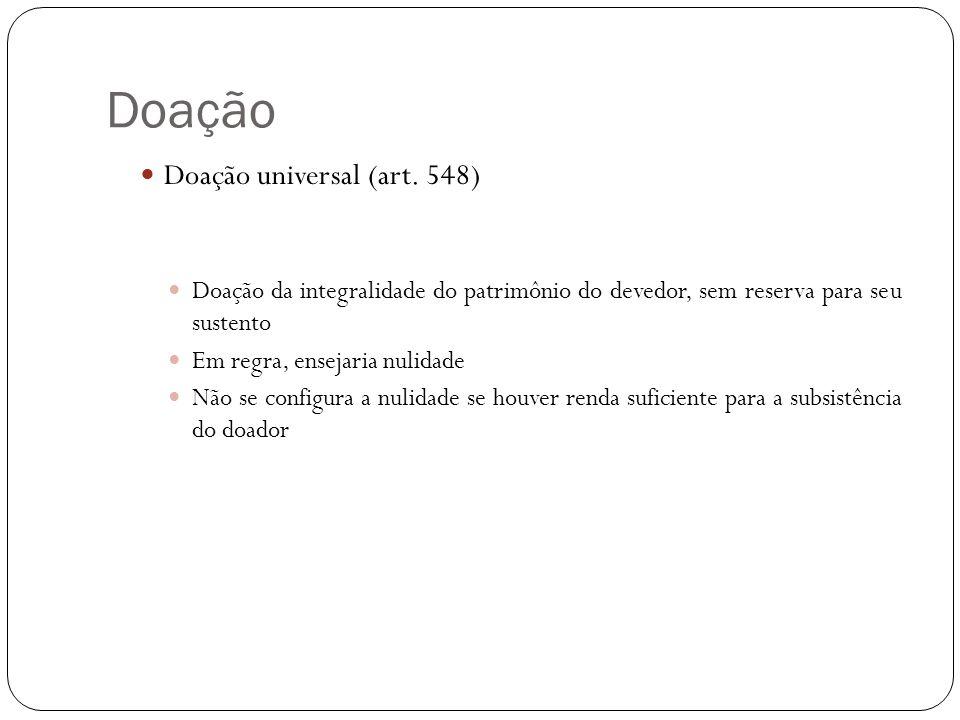 Doação Doação universal (art. 548)