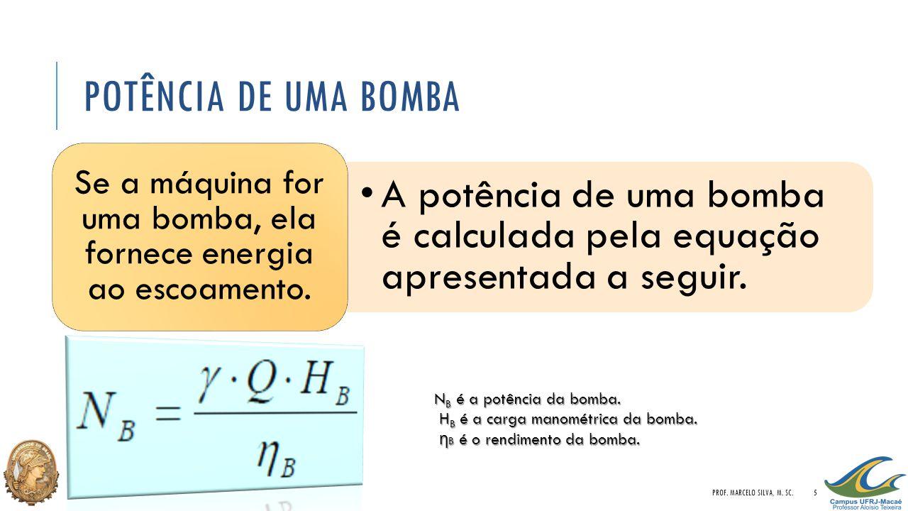 Se a máquina for uma bomba, ela fornece energia ao escoamento.
