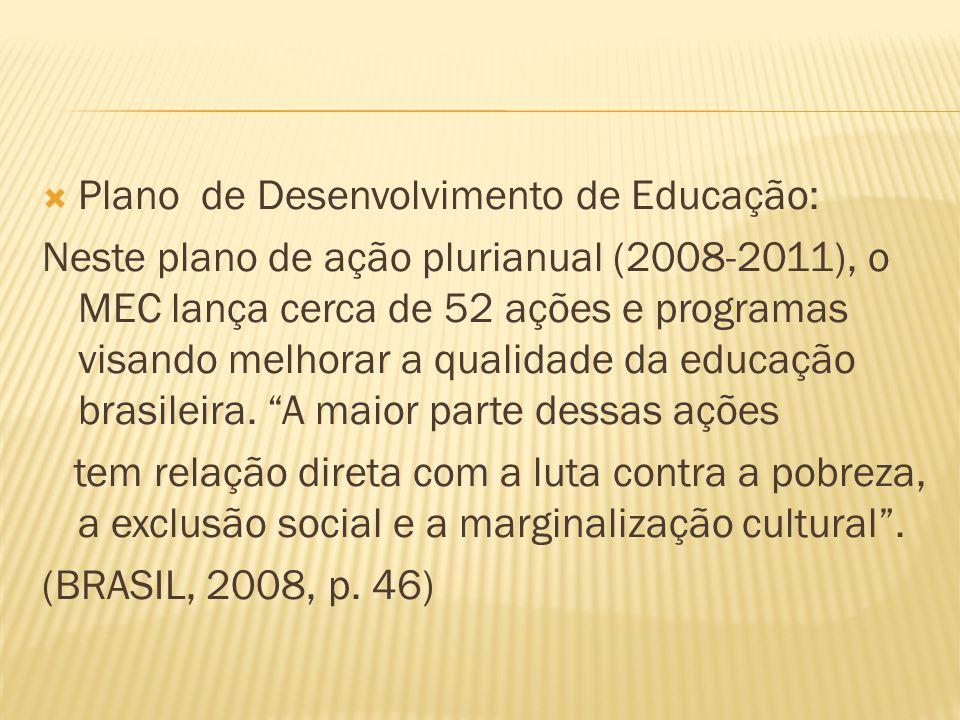 Plano de Desenvolvimento de Educação: