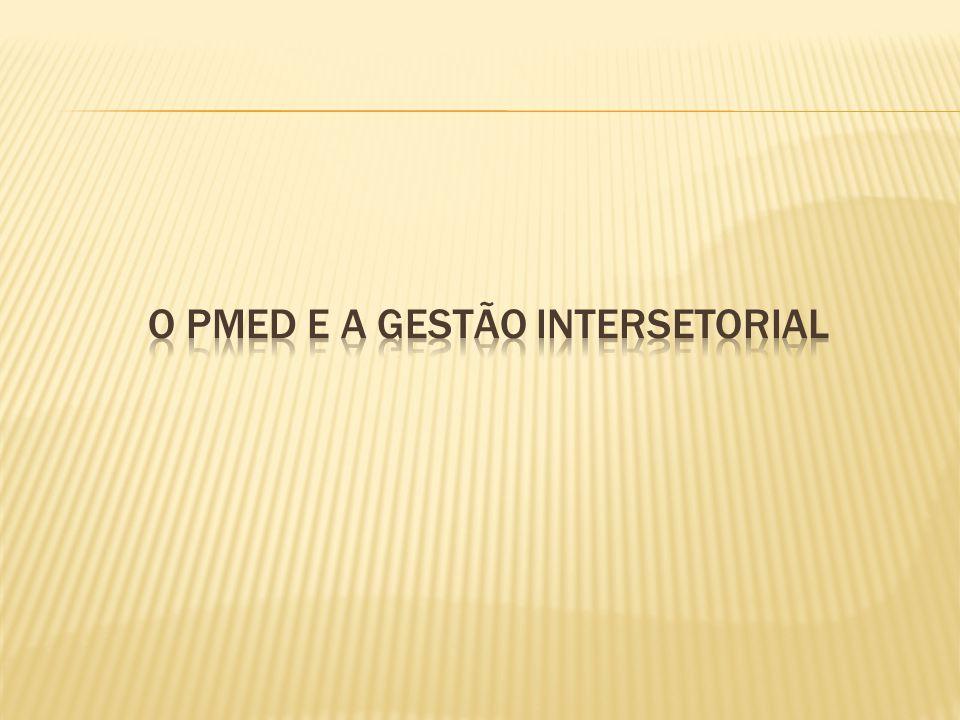 O PMEd E A GESTÃO INTERSETORIAL
