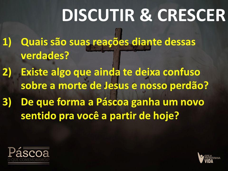 DISCUTIR & CRESCER Quais são suas reações diante dessas verdades