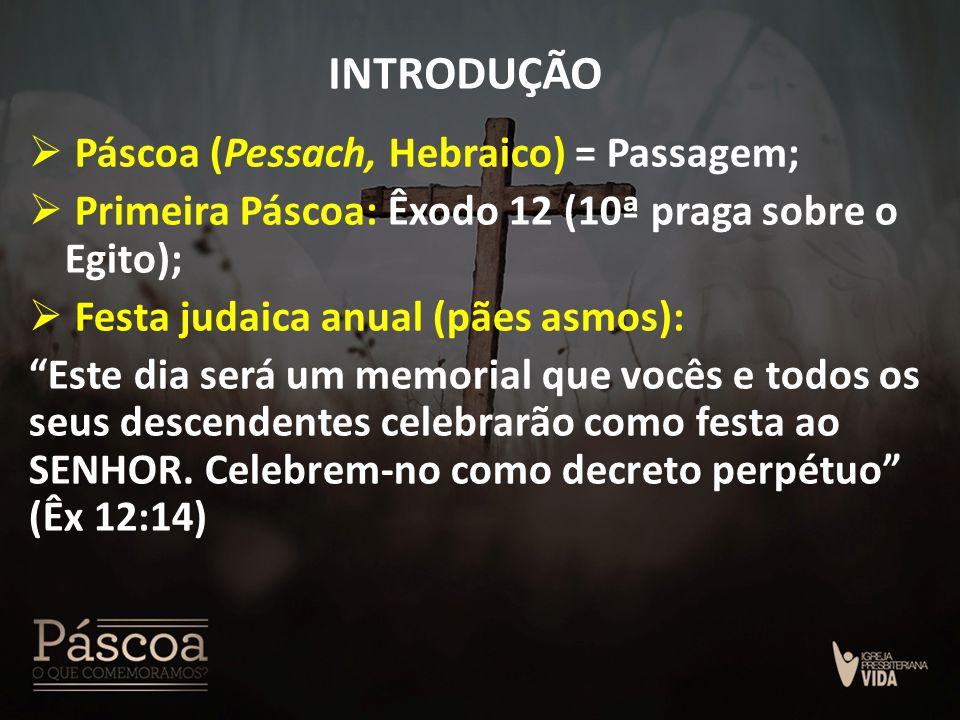 INTRODUÇÃO Páscoa (Pessach, Hebraico) = Passagem;